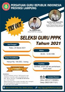 PGRI Lampung Gelar Try Out PPPK