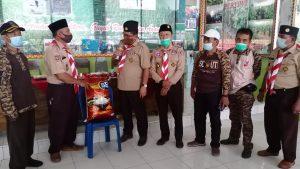 Ka Kwarda Lampung Kunjungi Pramuka Desa Srikaton, Adiluwih Serahkan Bantuan