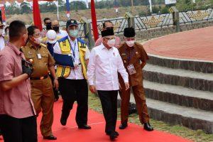 Wapres Ma'ruf Amin Tinjau Pembangunan Waduk Way Sekampung di Pringswu