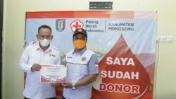 PMI Pringsewu Sedekahkan 109 Kantong Darah di Hari Donor Sedunia