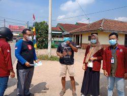 Mahasiswa KKN STMIK Pringsewu Sosialisasi Prokes Dan Bagi Masker