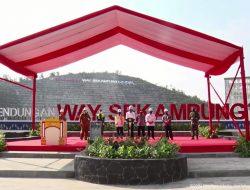 Presiden Jokowi Resmikan Bendungan Way Sekampung di Pringsewu