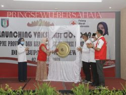 PMI Provinsi Lampung Launching Vaksinasi Covid-19 di Pringsewu